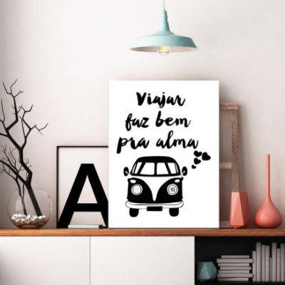 Placa Decorativa Viajar faz Bem pra Alma (AL) 30X40CM