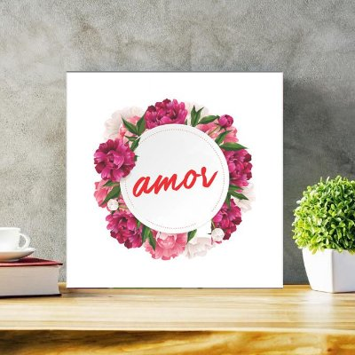 Placa Decorativa Amor (AL) 30x30cm