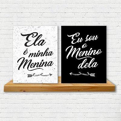 Placa Decorativa Menino e Menina (AL) 30X40CM