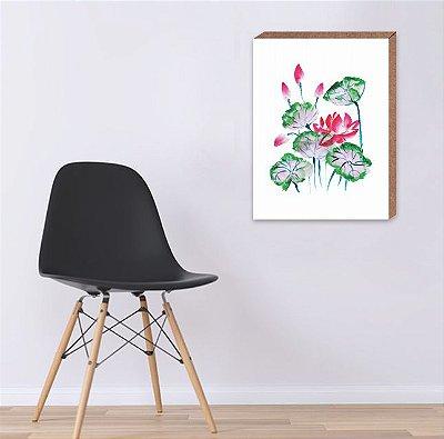 Quadro Flores Aquarela  [ Box em MDF ]