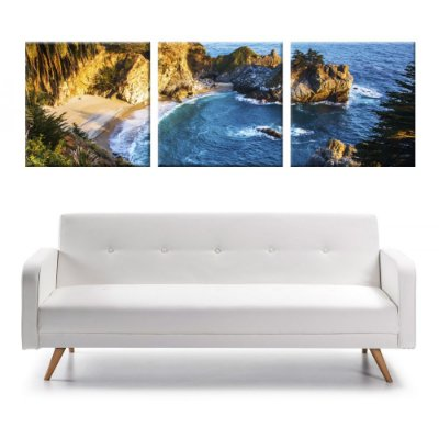 Conjunto 3 Telas Decorativas em Canvas California