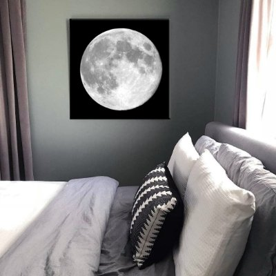 Quadro Lua Cheia Tela Decorativa