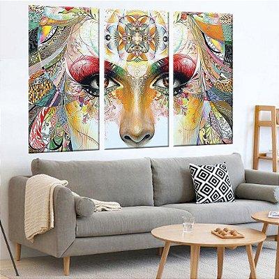Conjunto 3 Tela Decorativa Gaia Face