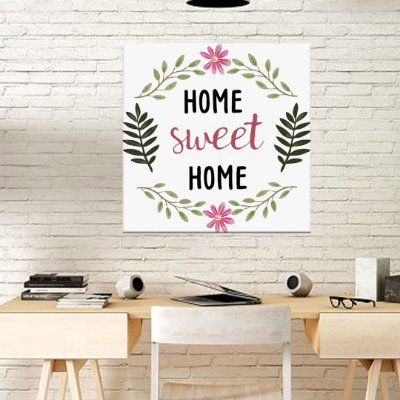 Placa Decorativa Home Sweet Home (AL) 30x30cm