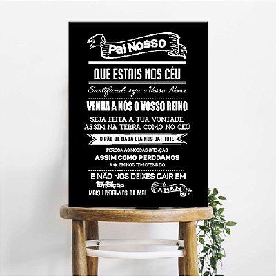Placa Decorativa Pai Nosso Black (AL) 30X40CM