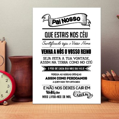 Placa Decorativa Pai Nosso (AL) 30X40CM