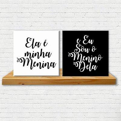 Placa Decorativa Ele & Ela (AL) 30x30cm
