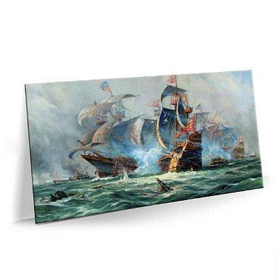 Quadro Pintura Barco Tela Decorativa