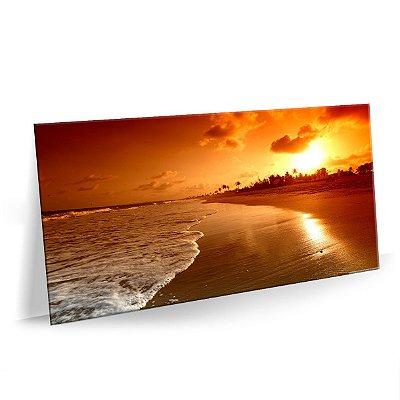 Quadro Praia Beach Sunrise Tela Decorativa