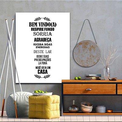 Placa Decorativa Bem Vindo (AL) 30X40CM