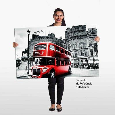 Quadro Londres Onibus Tela Decorativa