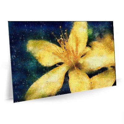 Quadro Flor Amarela Tela Decorativa