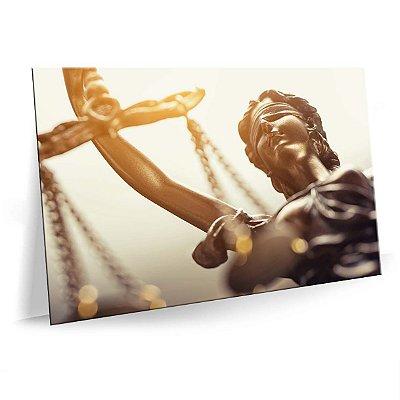 Quadro Advocacia Deusa da Justiça Escritório Tela Decorativa