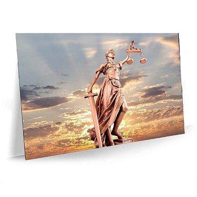 Quadro Advocacia Justiça e Balança Tela Decorativa