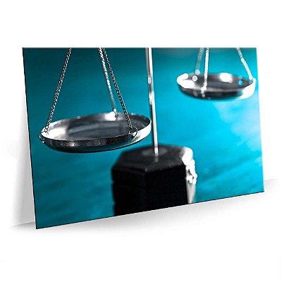 Quadro Advocacia Balança Tela Decorativa