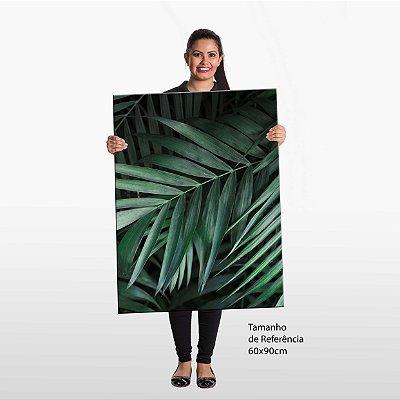 Quadro Folha de Bambu Tela Decorativa