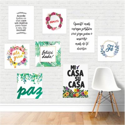 Kit 04 - Placas Decorativas