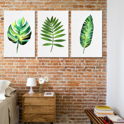Trio de Telas Decorativa Herbal