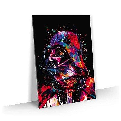Quadro Star Wars - Darth Vader Estilizado Colorido