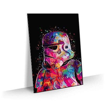 Quadro Star Wars - Stormtroopers Estilizado Colorido