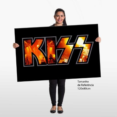 Quadro Banda Rock Kiss Tela Decorativa