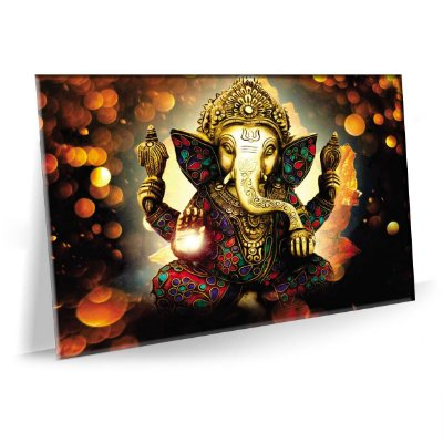 Quadro Lord Ganesh Tela Decorativa
