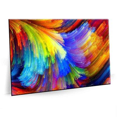 Quadro Explosão Cores Abstrato Tela Decorativa