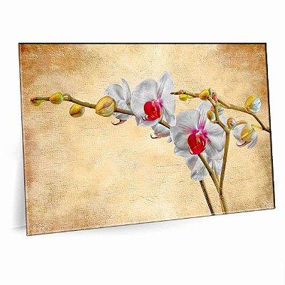 Quadro Orquidea Branca Pintura Tela Decorativa