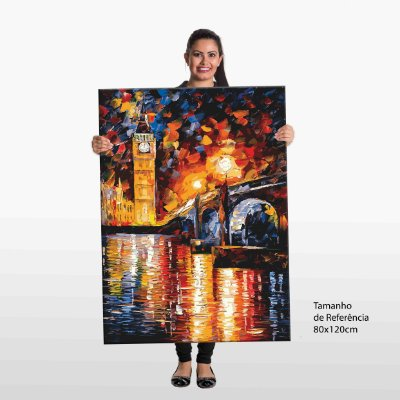 Quadro Big Ben Pintura Tela Decorativa