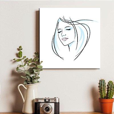 Placa Decorativa Mulher Zen (AL) 30X30CM