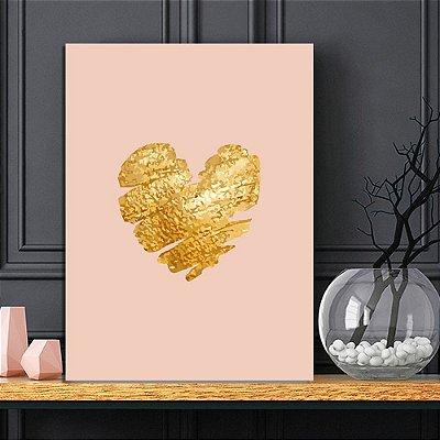 Placa Decorativa Coração Maquiagem (AL) 30X40CM