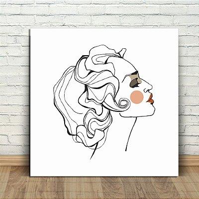 Placa Decorativa Mulher Face (AL) 30X30CM