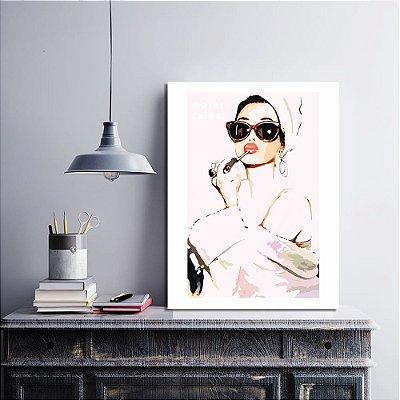 Placa Decorativa Mulher Fashion (AL) 30X40CM