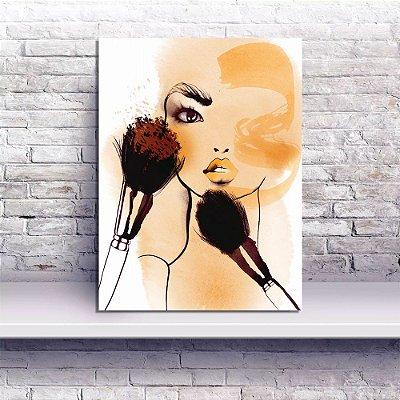Placa Decorativa Efeitos Maquiagem (AL) 30X40CM