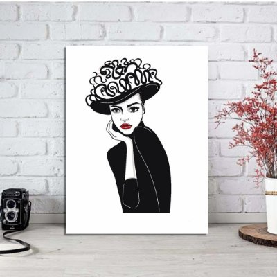 Placa Decorativa Moda Fashion 2 (AL) 30X40CM