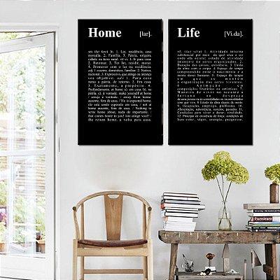 Dupla de Telas Decorativa Home Life