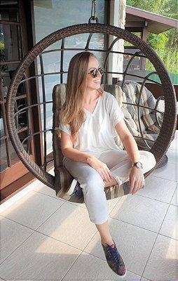 BLUSA MOLETINHO LUREX OFF WHITE