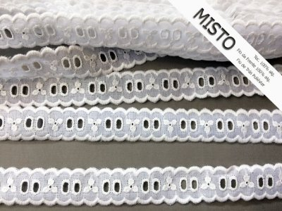 Passa-Fita 2,40 cm - MISTO - cerca de 92% algodão e 8%  poliéster | Peça com 7,20 m