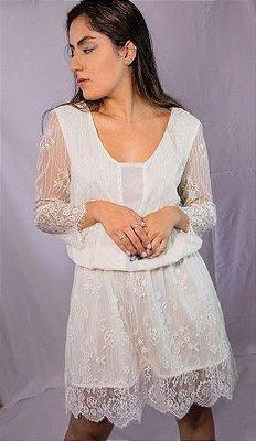 Vestido Etrange rendas brancas  (M)