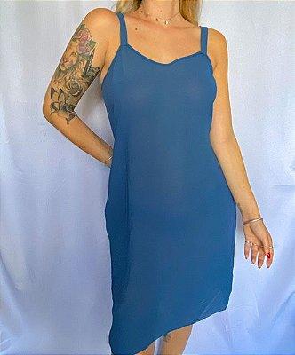 Slip Dress azul (P)