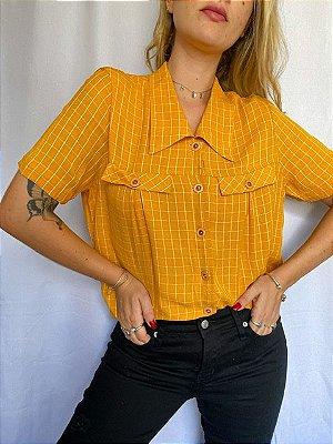 Camisa Xadrez Amarela