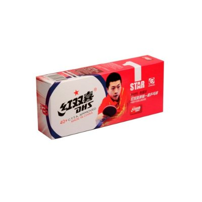 Kit com 100 Bolas DHS 1 Estrela 40+ PVC