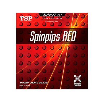 Borracha TSP Spin Pips Red