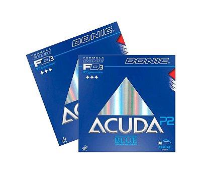 Kit 2 Borrachas Donic Acuda P2 Blue