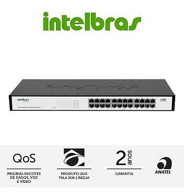 Switch Intelbras 24 Portas Gigabit QoS - SG 2400 QR Gerenciável