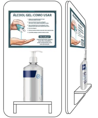Suporte Álcool Gel - Unitário