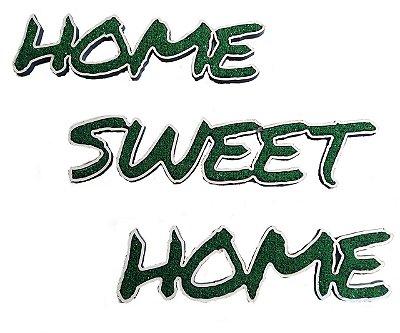 Letreiro Decorativo em relevo com textura de grama sintética - Home Sweet Home