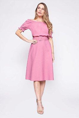 Vestido Solana Rosa
