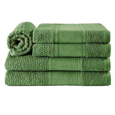 Jogos de Toalha de Banho 5 Peças Verde Tropical Noblesse