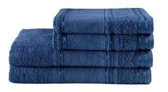 Jogo De Toalhas Banho  Algodão  Slim Plus 4 Peças Dark Blue